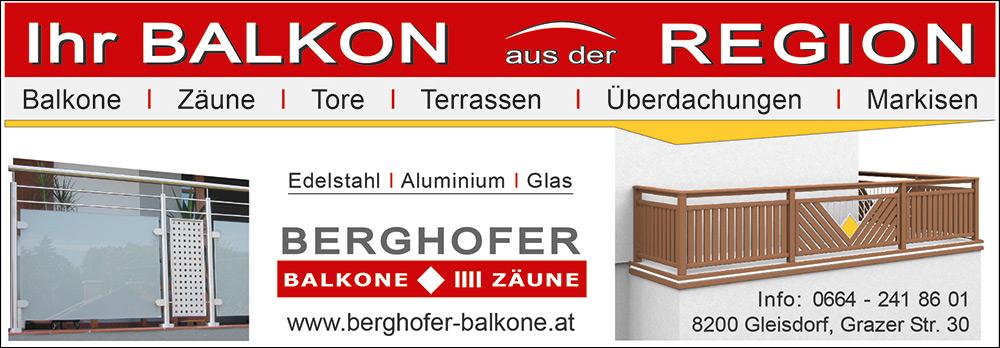 Viertel Seite Quer 1000 x 348 | 2 | Berghofer Balkone